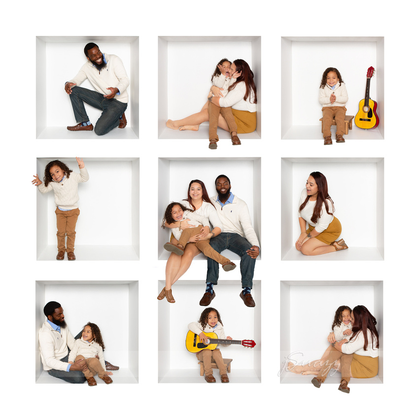 9-grid White Box Houston Family Portrait