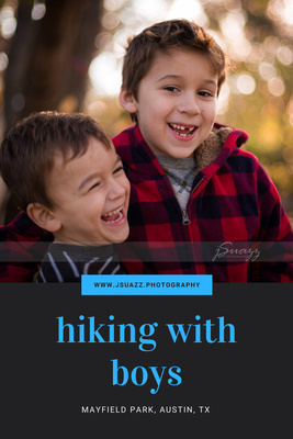 Hiking With Boys and Laughing all the way